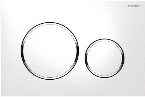 Dvojčinné ovládacie tlačidlo Geberit Sigma plast, biela