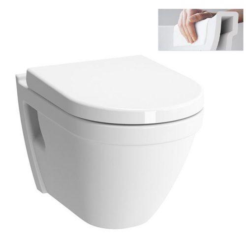 Závesné WC Vitra S50, zadný odpad, 52cm