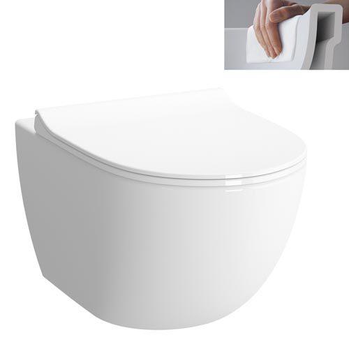 Závesné WC Vitra Shift, zadný odpad, 54cm